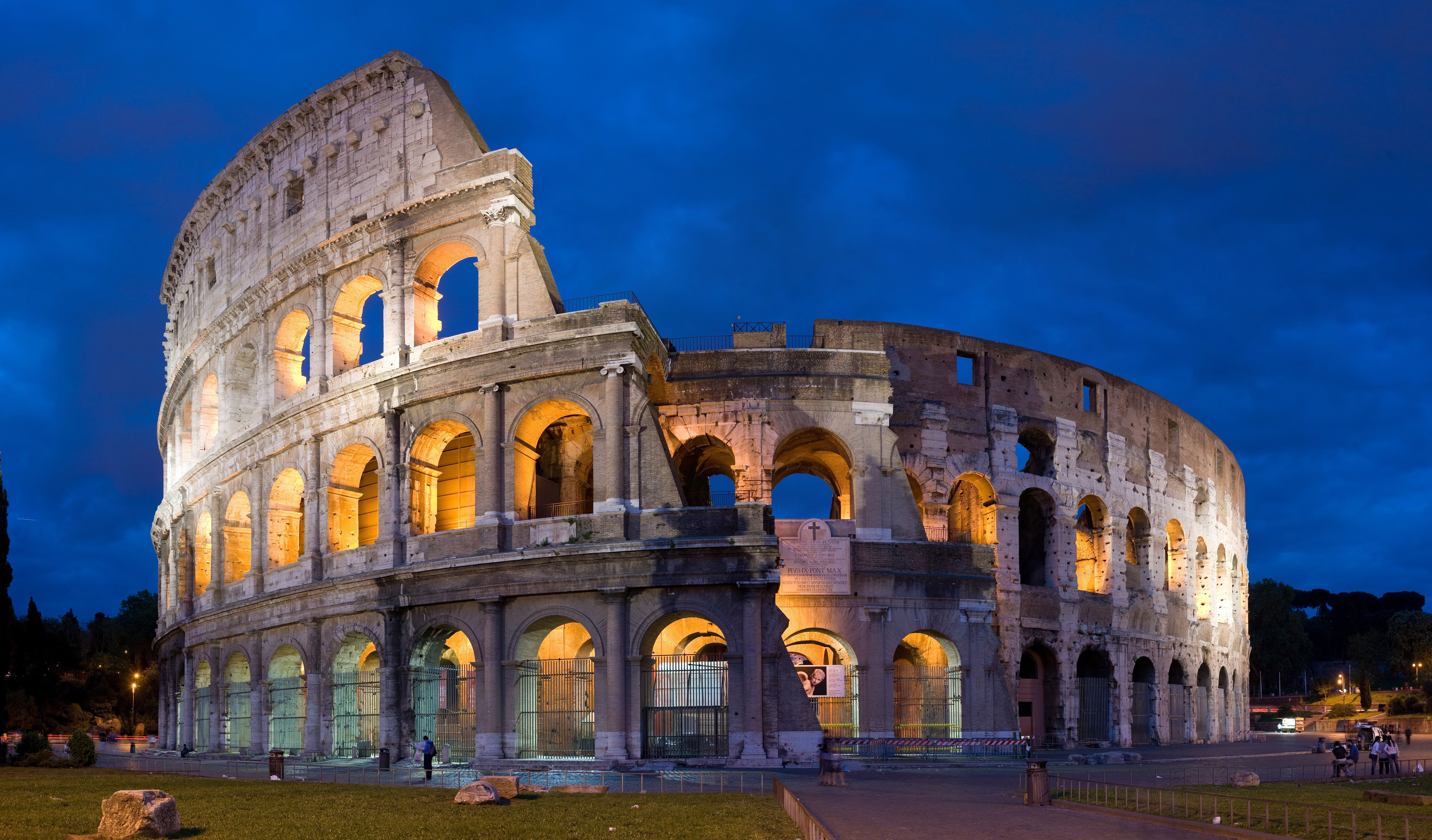 The Colosseum in Rome, built ca. 70 – 80 AD, is considered one of the greatest works of Roman architecture and engineering