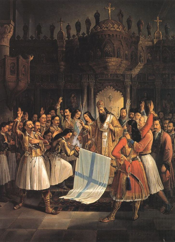 Blessing the Greek banner 25 March 1821