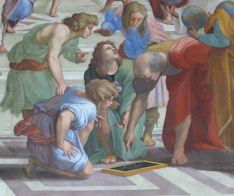 Mathematics, Euclid and the school of Athens