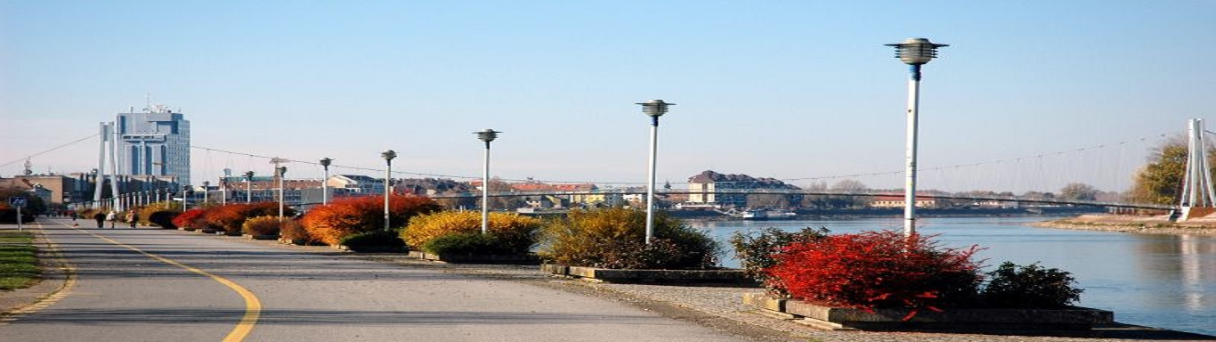 along the Drava river in Osijek