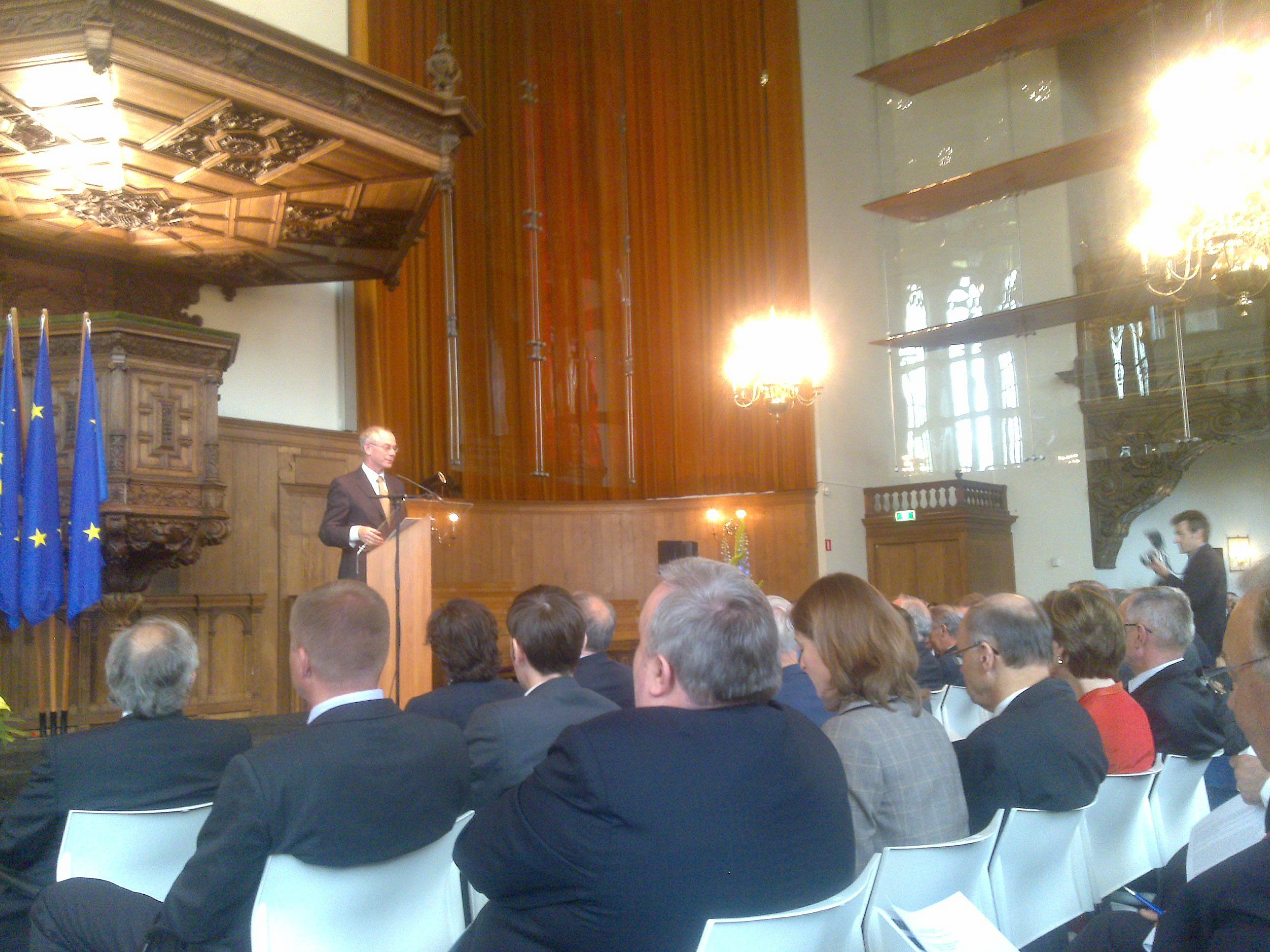 2010: Van Rompuy lectured about the state and future of EUROPE