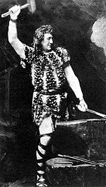 The title character from a 19th century performance of Wagner's opera Siegfried