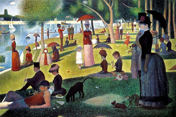 Sunday afternoon on the Island of La Grande Jatte, Georges Surat