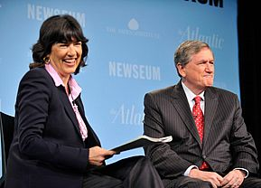 Richard Holbrooke and Christiane Amanpour