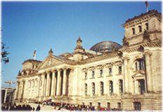 Reichstag. After the founding of the German Empire in 1872, there was a need for a large parliamentary building in Berlin. Paul Wallot designed an imposing neo-renaissance building, 137m long and 97m wide.