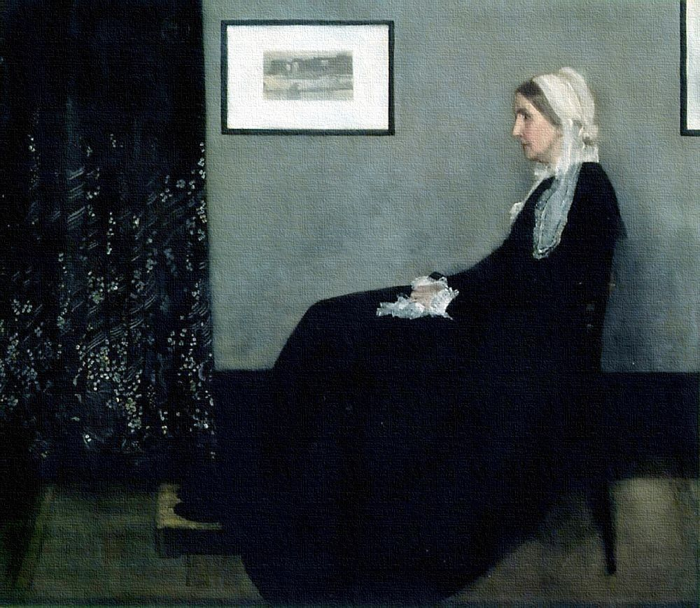 Whistler arrangement in grey and black no1, James Mc Neill